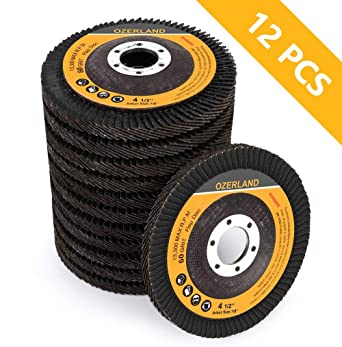 "200 Pack 4.5"" x 7//8/"" Professional 40 Grit Zirconia Flap Disc Grinding Wheels T27"