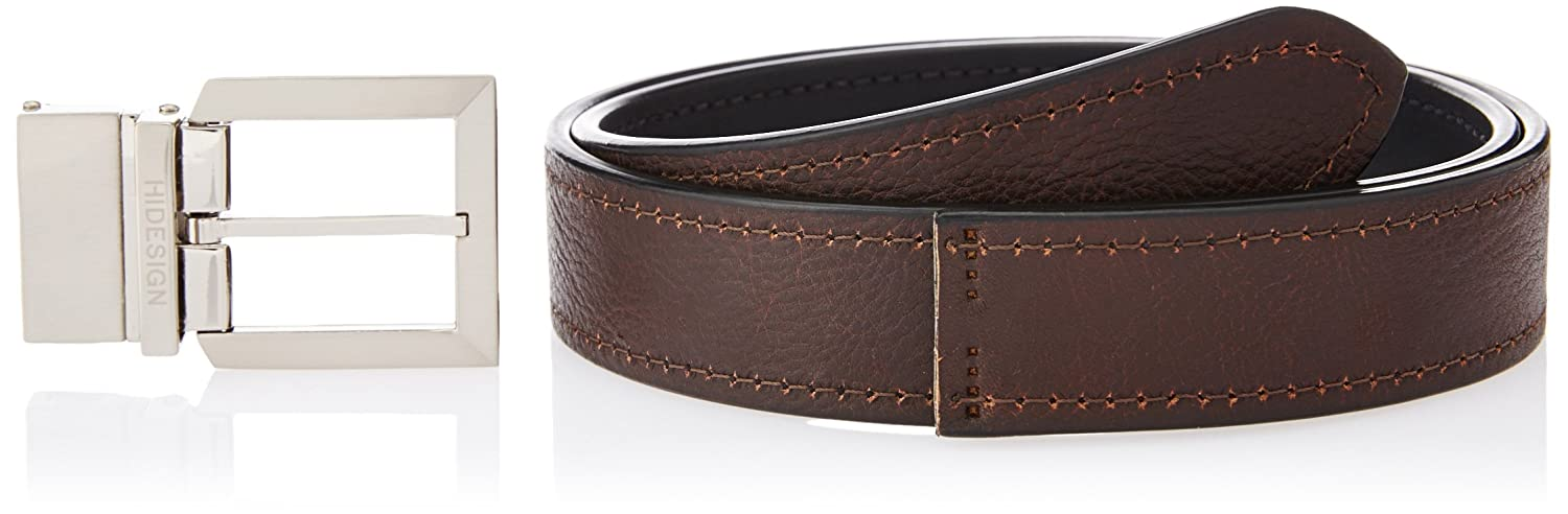 20c287848b3 Hidesign Black and Brown Leather Men s Belt (ALDO-SOWETO SOWETO-BLACK  BROWN-36)  Amazon.in  Bags