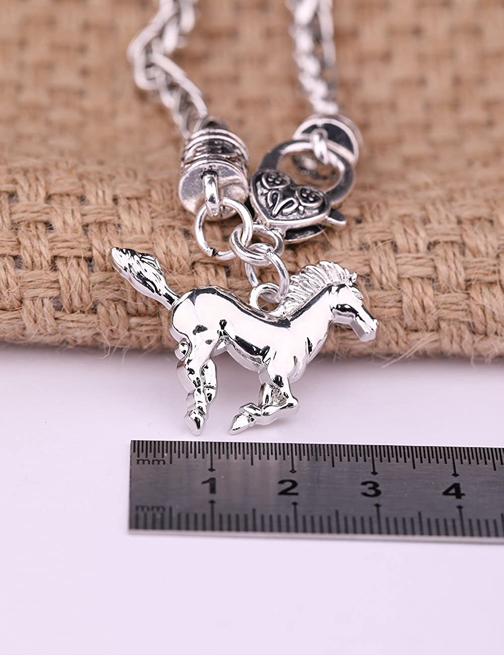 Lemegeton Antique Silver Heart Bracelet Character Engraved Pendant Wheat Chain for Women Girls Gift Jewelry