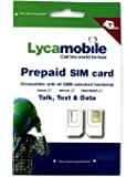Lyca Mobile Triple Punch Regular, Micro and Nano All in One SIM Card