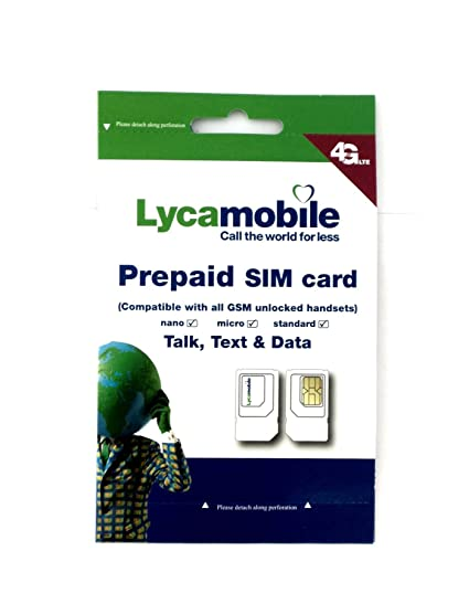 lycamobile sim karte Amazon.com: Lycamobile Plus USA Prepaid Sim Card: Cell Phones