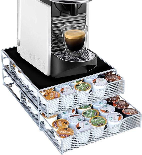 Bakaji - Recipiente doble para cápsulas de café Nespresso Nescafè ...