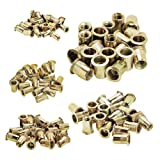 HIFROM 5 Type 100 Pieces Zinc Plated Carbon Steel