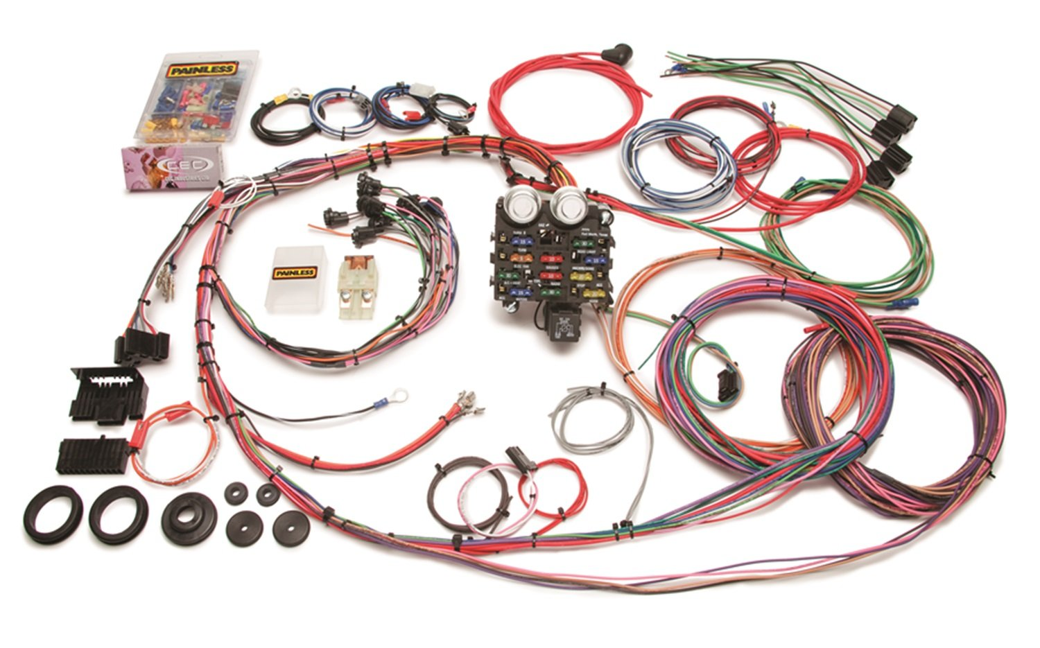 71Ove05FJxL._SL1500_ amazon com painless 10112 12 circuit pickup harness automotive Trailer Wiring Harness at soozxer.org