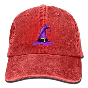c7761641334 Image Unavailable. Image not available for. Color  Personality Caps Hats  Denim Baseball Cap Halloween Witch ...