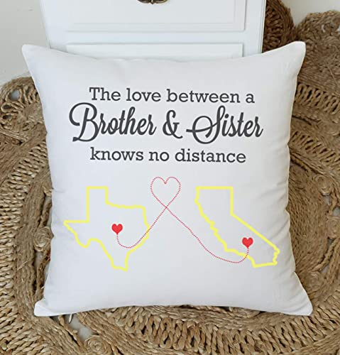 Amazon.com: YugTex Pillowcases Long Distance Brother and Sister ...