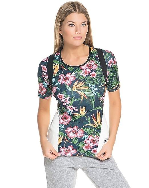 4a3359304 Adidas Women s Y-3 Roland Garros AOP Flower Tee