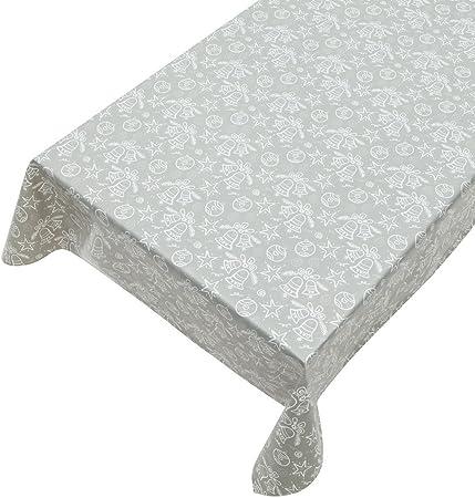 Tovaglia cerata in PVC larghezza 140 cm larghezza 1,4 m al metro colore argento lavabile