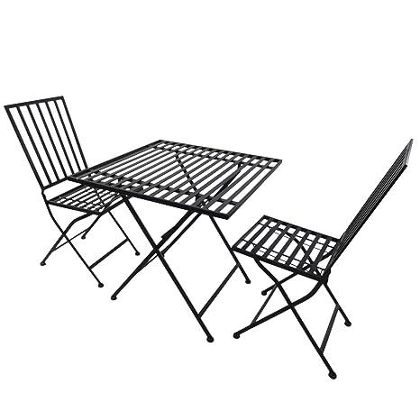 Outsunny - Juego de Muebles de jardín, 1 Mesa y 2 sillas ...