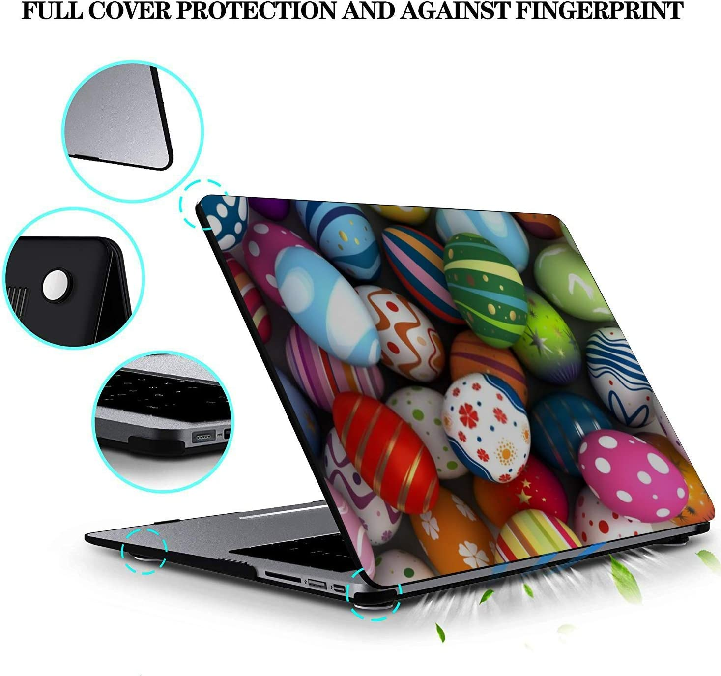 MacBook Pro Case Background Easter Eggs Computer Generated Image MacBook Retina 12 A1534 Plastic Case Keyboard Cover /& Screen Protector /& Keyboard C