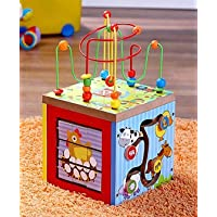 Webby 5 in 1 Wooden Learning Activity Center Toy for Kids