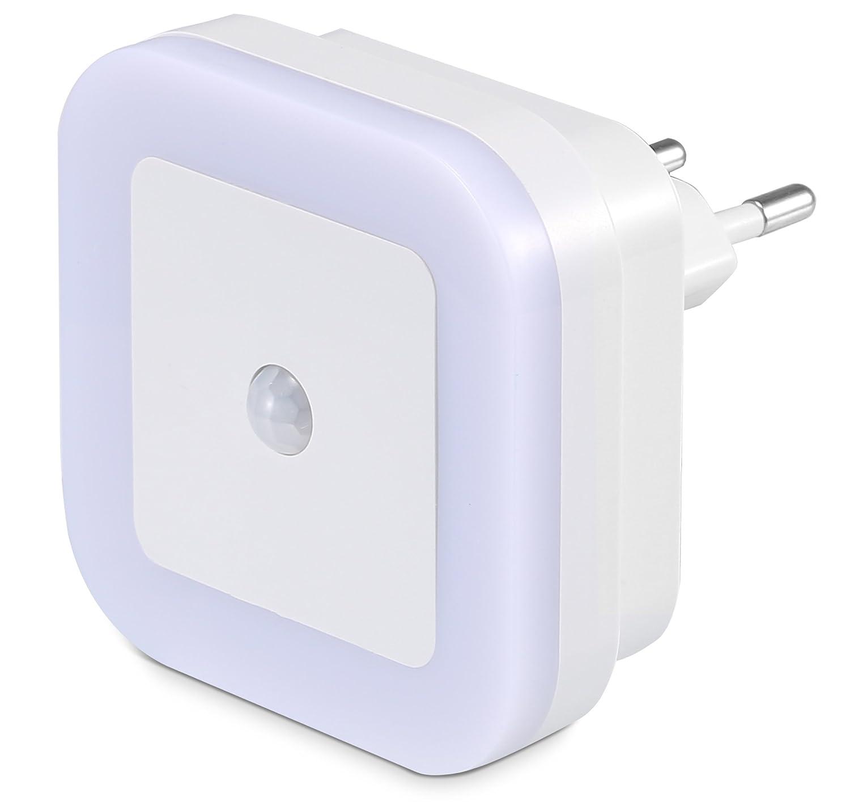 SOAIY Luce Calda 3 Modalità con Rilevatore di Movimento Lampada orientamento presa luce a PIR sensore Lampada Wireless per Camera da Letto della Bambini Corridoio Bagno ecc
