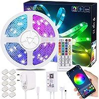 15M/50ft Bluetooth Control LED Strip Light, LUXONIC RGB LED Light Strip met APP Control, 40-Key IR Remote en Bluetooth…