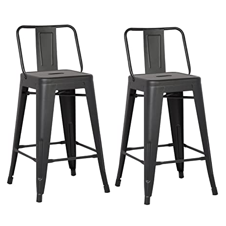 AC Pacific Modern Industrial Metal Barstool with Bucket Back and 4 Leg Design 24u0026quot;  sc 1 st  Amazon.com & Amazon.com: AC Pacific Modern Industrial Metal Barstool with ... islam-shia.org