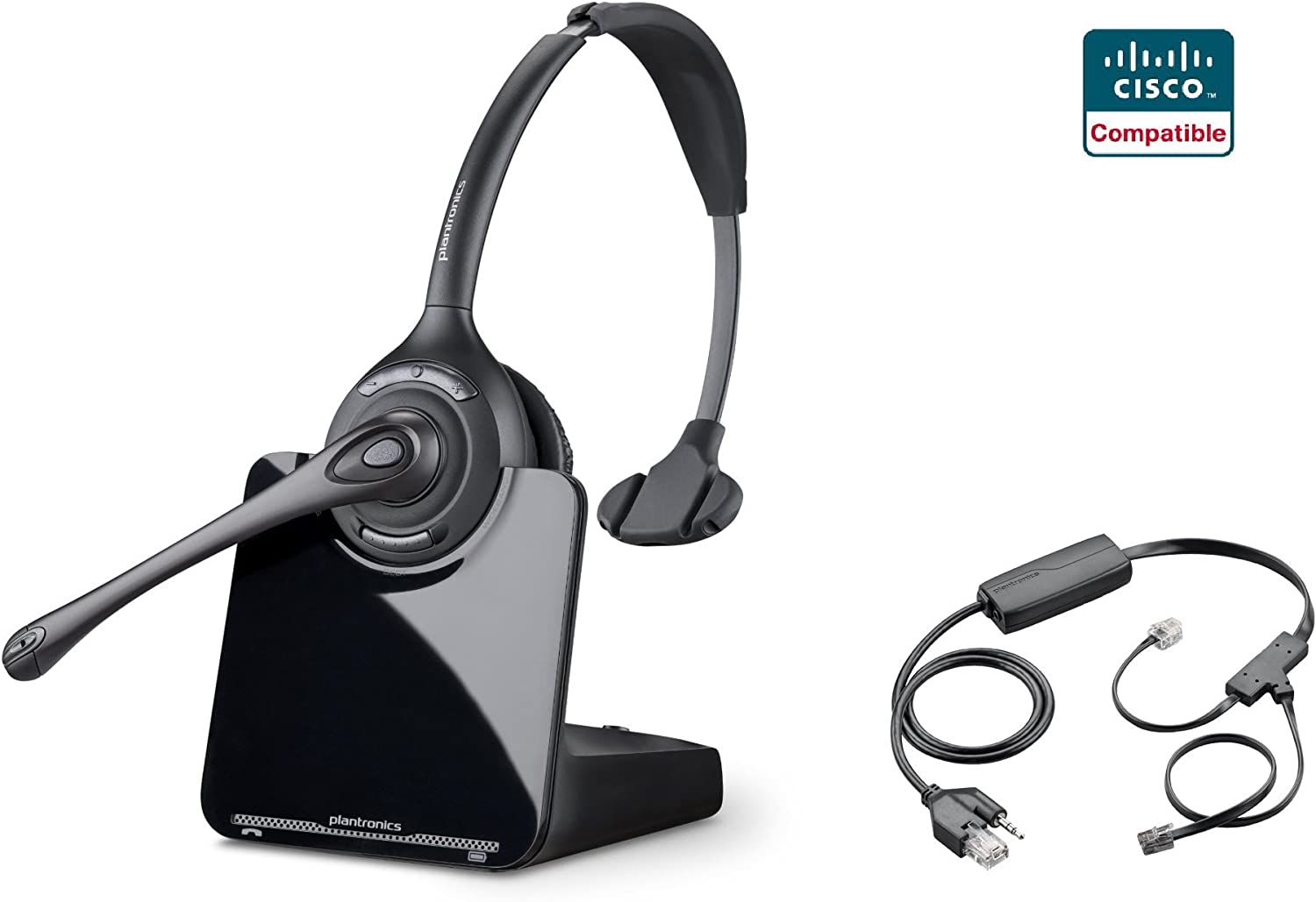 Amazon Com Cisco Compatible Plantronics Cs510 Voip Wireless Headset Bundle With Electronic Remote Answer End And Ring Alert Ehs For 6945 7821 7841 7861 7942g 7945 7945g 7962g 7965g 7975 7975g Office Products