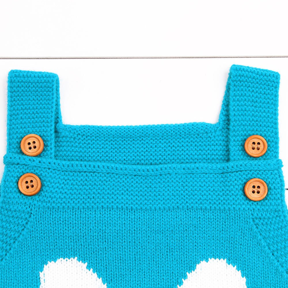 Toddler Newborn Baby Boys Girls Strap Buttons Solid Rabbit Knitted Rompers Jumpsuit Outfits Lenfesh Newborn Bunny Jumpsuit