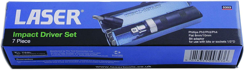 Laser 0303 Impact Driver Set 7pc