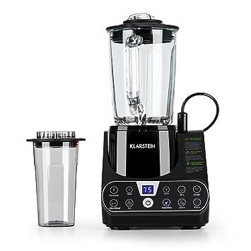 Klarstein Airakles Batidora de vaso • Licuadora de vacío • Smoothie • Triturador picahielo • 7 modos • Función de pulso y vacío • 1300W (1,8 PS)• ...