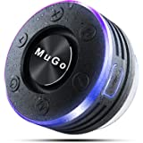 MuGo Bluetooth Speaker, Wireless Speaker with Suction Cup, IP7 Waterproof Portable Bluetooth Speakers for Shower, Mini Outdoo