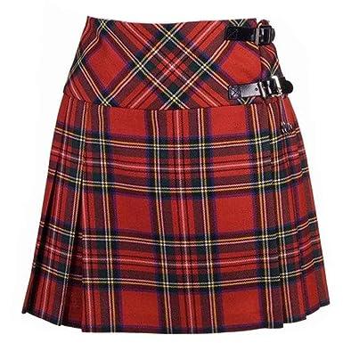 f79f7629a New Ladies Royal Stewart Tartan Scottish Mini Billie Kilt Mod Skirt Size 6UK