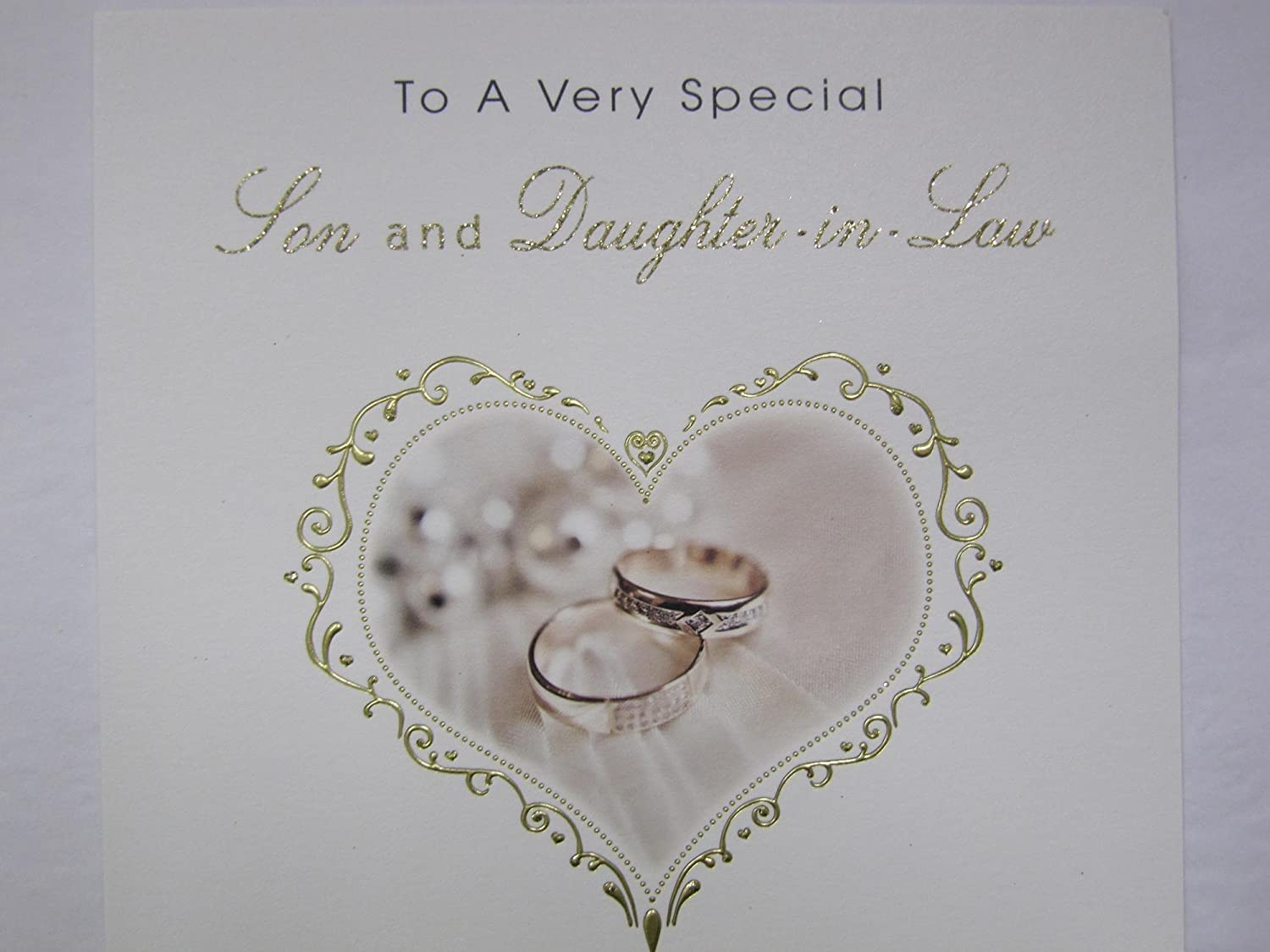 LARGE STUNNING LOVELY TOP RANGE SON /& DAUGHTER-IN-LAW WEDDING DAY GREETING CARD