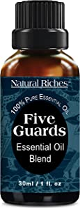 Five Guards Immunity Synergy Blend Health Shield, Aromatherapy Essential Oils 30ml Pure Therapeutic Grade Natural Germ Fighter Clove Cinnamon Lemon Rosemary Eucalyptus Oil from tales of French Thieves