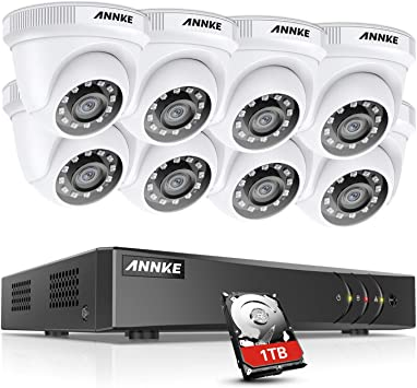 Amazon Com Annke Cctv Camera Systems 8 Channel 5mp Lite H 265 Dvr With 1tb Hdd And 8 Hd 1920tvl 1080p Cctv Dome Cameras Instant Email And App Alerts With Snapshots Y200 Camera