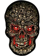 "Hot Leathers Skull Makes Skull Biker Patch (8"" Width x 12"" Height)"