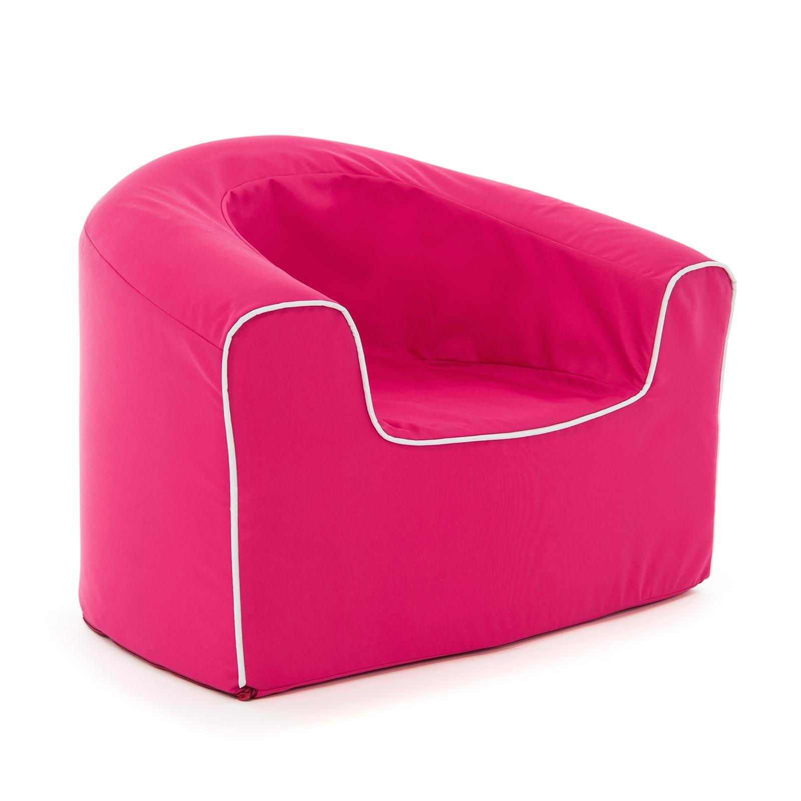 PopLounge Expandable Foam Furniture Junior Armchair, Raspberry Pink, 26'' x 20'' x 20''