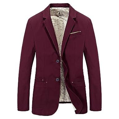 Botia Hombre Autumn Gentry Blazer Abrigos Primavera Cotton Jeep Blazers Khaki Slim Suits Chaquetas: Amazon.es: Ropa y accesorios