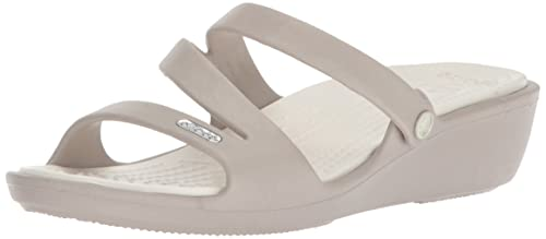 2dec5047a Crocs Womens Patricia Platinum Oyster Wedge  Buy Online at Low Prices in  India - Amazon.in