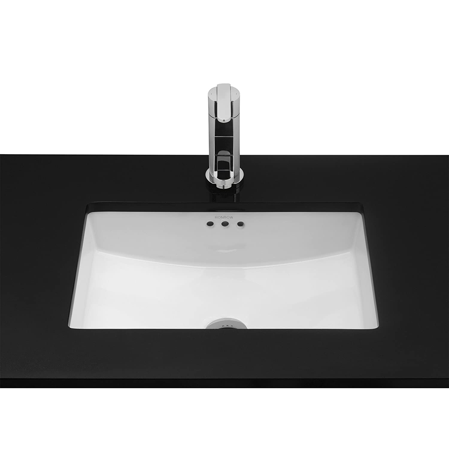 Bathroom sink rectangular - Ronbow 20 Inch Undermount Ceramic Vessel Bathroom Vanity Sink In White 200521 Wh Amazon Com