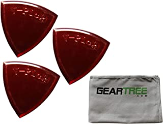 product image for Set of 3 V-Picks Small Pointed Ruby Red Custom Guitar Picks w/Geartree Cloth