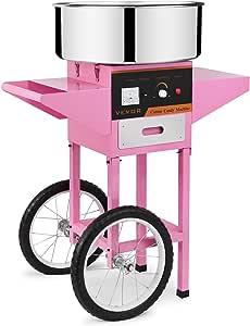Autovictoria Máquina de Algodón de Azúcar Acero Inoxidable Máquina Eléctrica para hacer Algodón de Azúcar Cotton Candy Machine Commercial (con Carrito): Amazon.es: Hogar