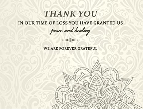 Amazon Com Celebration Of Life Funeral Thank You Cards With