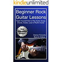 Beginner Rock Guitar Lessons: Guitar Instruction Guide to Learn How to Play Licks, Chords, Scales, Techniques, Lead… book cover