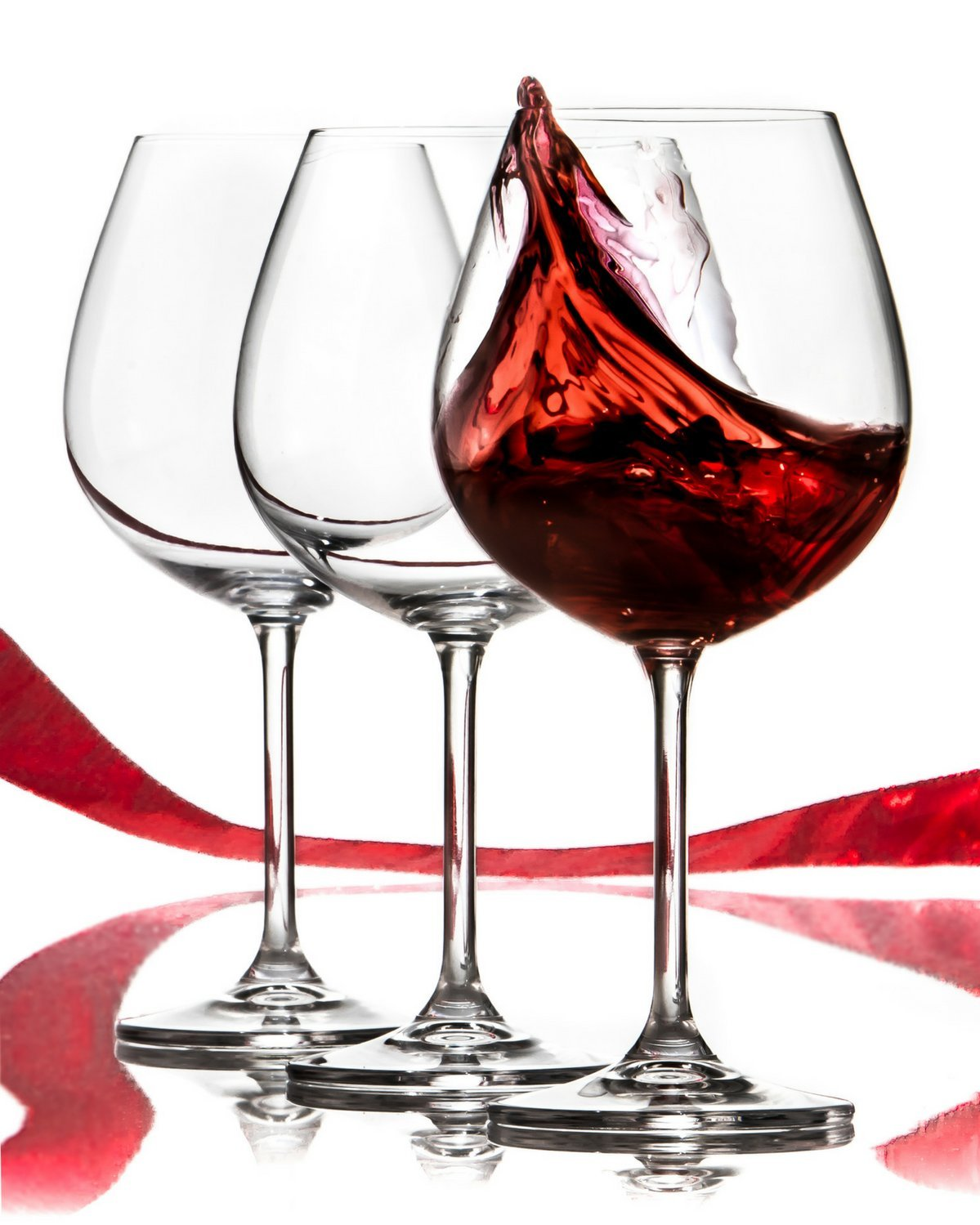 Amazon.com: Red Wine Glasses Set - Lead Free Titanium Crystal Glass, 22 oz.  Large Bowl, Long Stemmed Glassware For Great Tasting Wine - Best For  Birthday, ...