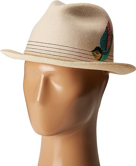 320682244ee03 Carlos by Carlos Santana Men s Felt Hemp Braid Fedora Natural Hat ...