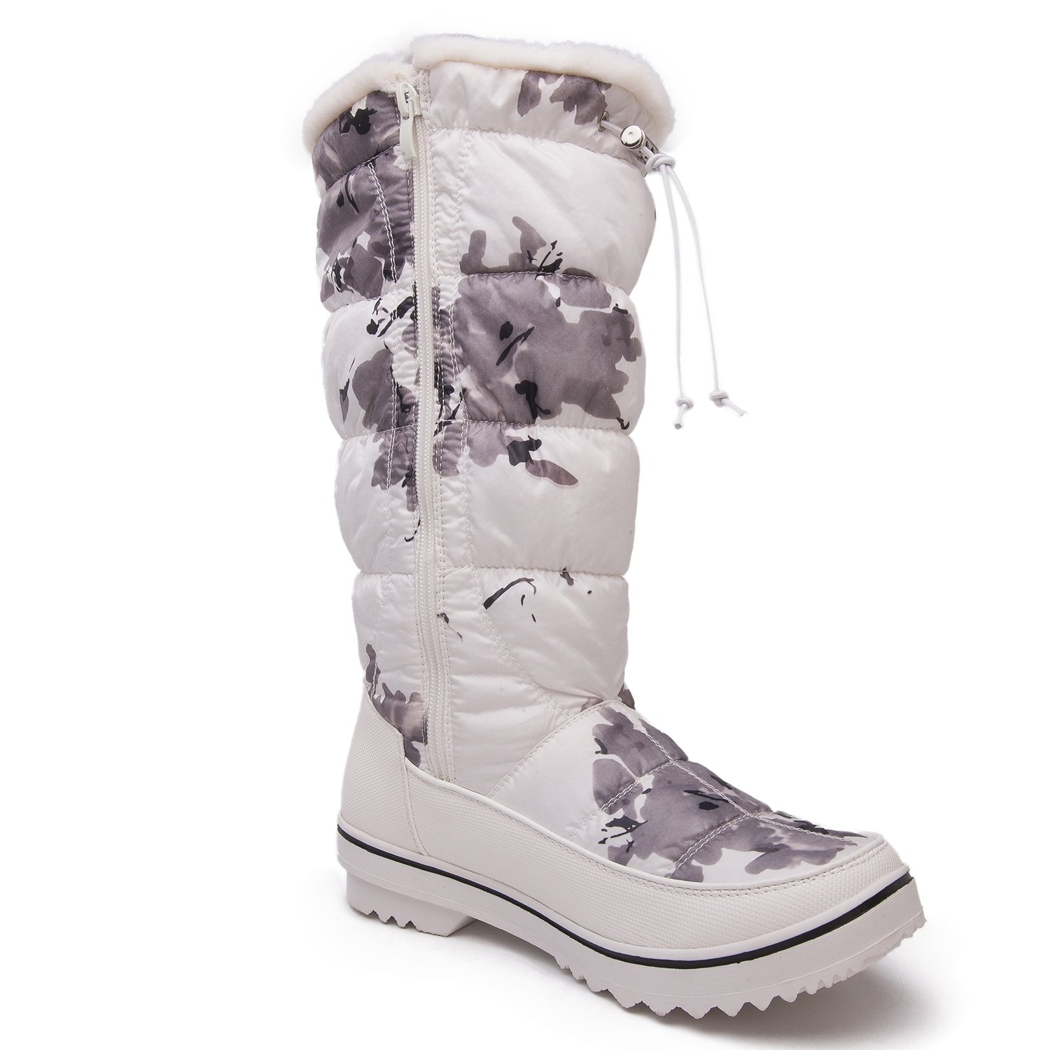 GW Women's 1713 White Camouflage Snow Boots 9 M US by Global Win (Image #2)