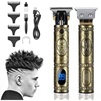OREORE New USB Rechargeable T9 Zero Gapped Baldheaded Hair Clipper Electric hair trimmer with LCD Display, Professional…