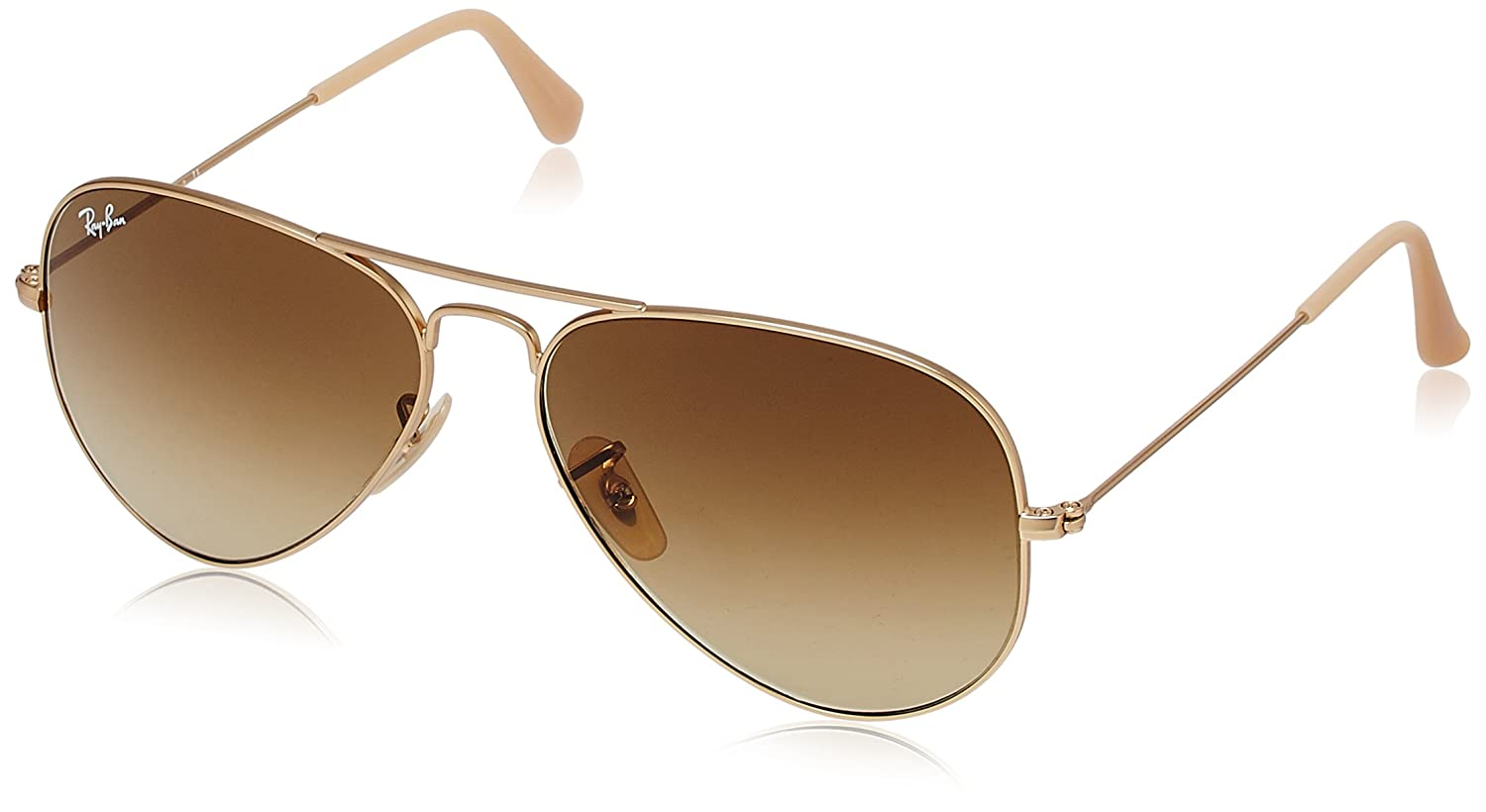 df839c08c2 Ray-Ban Aviator Unisex Sunglasses (0RB3025112 8558 Brown)  Amazon.in   Clothing   Accessories