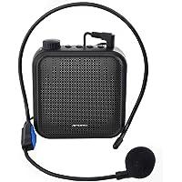 Amplificador de Voz, Sistema de PA Recargable de 12 Vatios (1200 mAh) con Micrófono con Cable para Profesores, Guía…