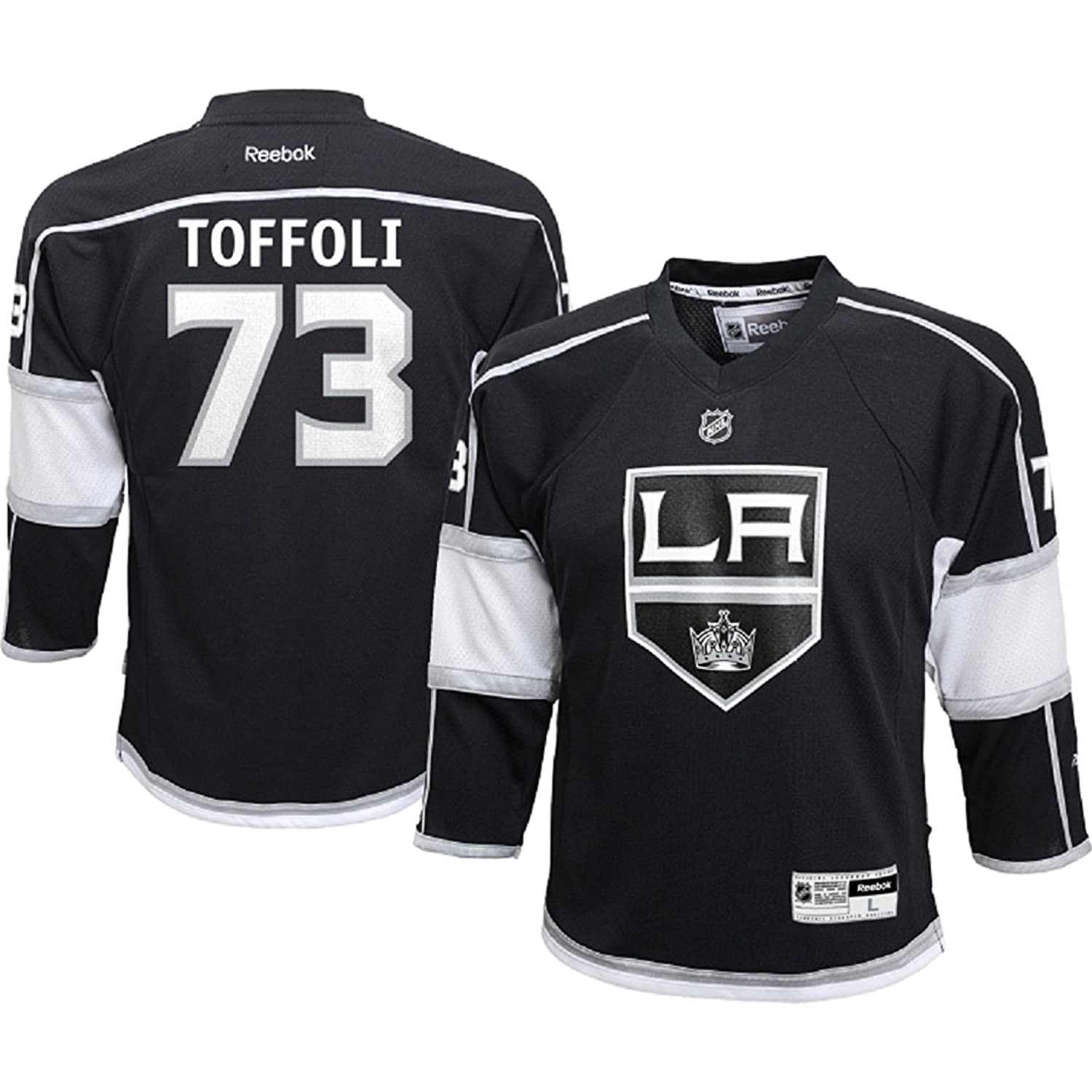 sports shoes 3018e 6fd55 Reebok Tyler Toffoli Los Angeles Kings Black NHL Youth Home ...