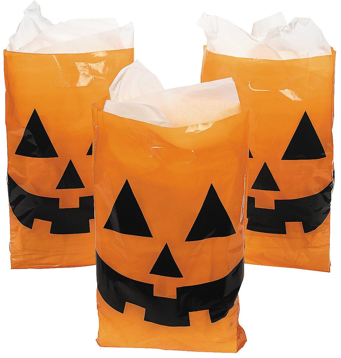 Jack-O-Lantern Trick Or Treat Bags (Pack Of 50) 2