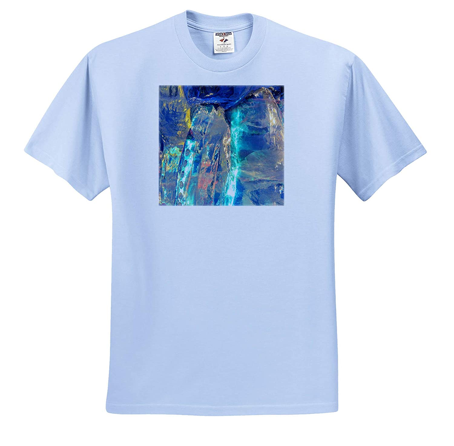 3dRose Danita Delimont - Adult T-Shirt XL Colorful Patterns and Textures of ice Blocks ts/_314529 Abstracts
