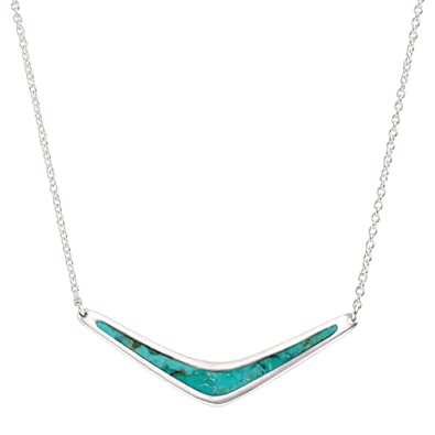 Amazon silpada reversible boomerang sterling silver and silpada reversible boomerang sterling silver and turquoise necklace aloadofball Choice Image