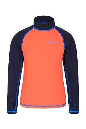 1e98b73aa Mountain Warehouse Kids Rash Vest - UV Protection Rash Guard, Long Sleeves  Childrens Rash Shirt