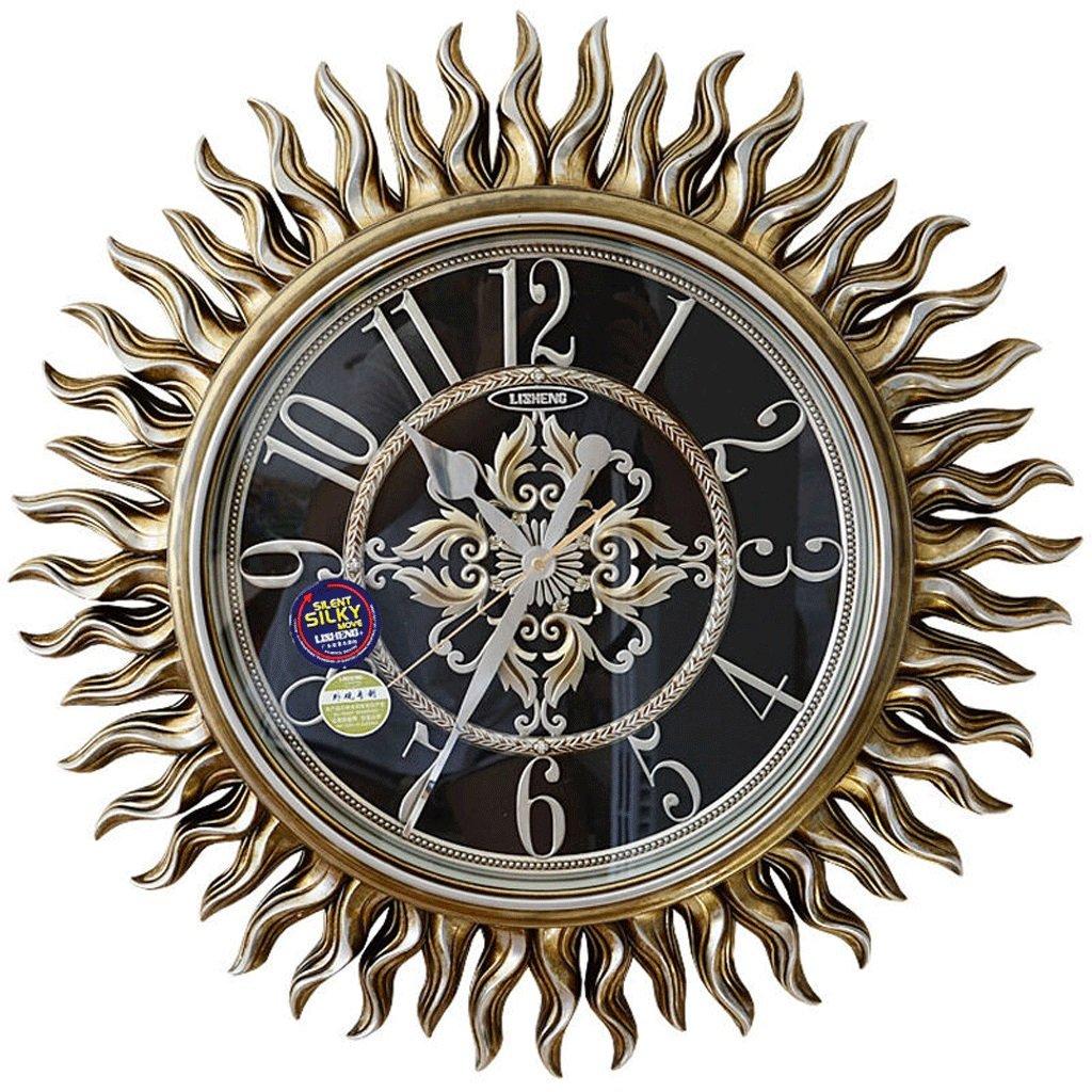 European-style Living Room Bedroom Retro Silence Wall Clock Fashion Art Quartz Clock Sun Watch Wall Clock Diameter 62 Cm / 25 In