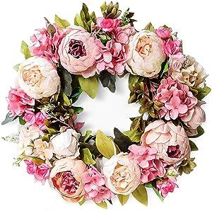 LASPERAL Peony Wreath - 15