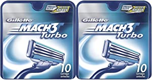 Gillette MACH3 Turbo Refill Cartridges-10 ct, 2 pk
